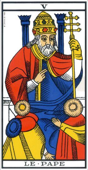 le pape tarot de marseille