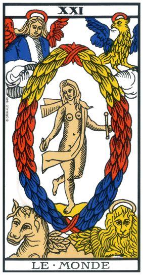carte tarot de marseile le monde